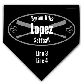 Softball Personalized Custom Team Home Plate Plaque