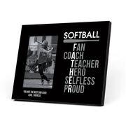 Softball Photo Frame - Softball Father Words