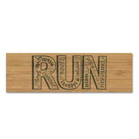 """Running 12.5"""" X 4"""" Printed Bamboo Removable Wall Tile - Run With Inspiration"""