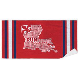 Running Premium Beach Towel - Louisiana State Runner