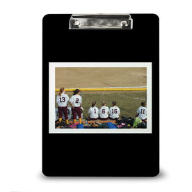 Softball Custom Clipboard Softball Your Photo Solid Background
