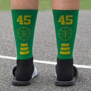 Basketball Printed Mid-Calf Socks - Team Colors