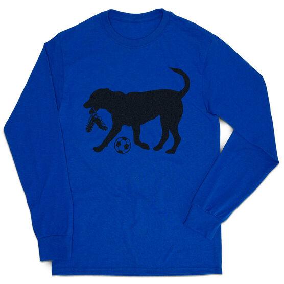 Soccer Tshirt Long Sleeve - Spot the Soccer Dog