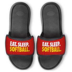 Softball Repwell® Slide Sandals - Eat. Sleep. Softball.