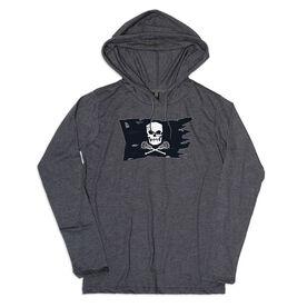 Guys Lacrosse Lightweight Hoodie - Lax Pirate Flag