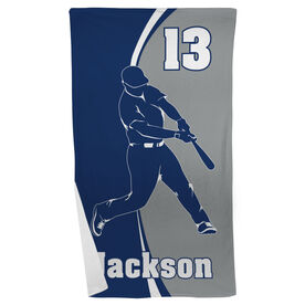 Baseball Beach Towel Personalized Batter