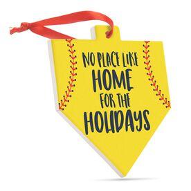 Softball Home Plate Ceramic Ornament - No Place Like Home