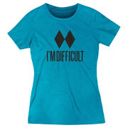 Skiing & Snowboarding Women's Everyday Tee - I'm Difficult