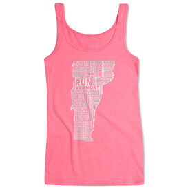 Women's Athletic Tank Top Vermont State Runner