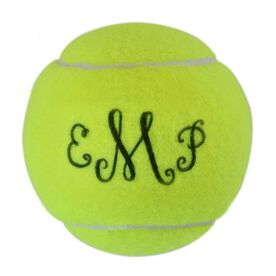 Personalized Curly Monogram Tennis Ball