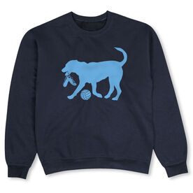 Volleyball Crew Neck Sweatshirt - Holly The Volleyball Dog
