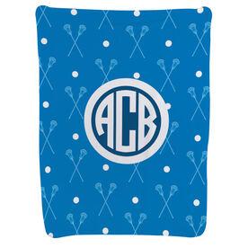 Guys Lacrosse Baby Blanket - Guys Lacrosse Pattern