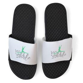 Figure Skating White Slide Sandals - Love 2 Skate