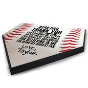 Baseball Home Plate Plaque - Dear Dad