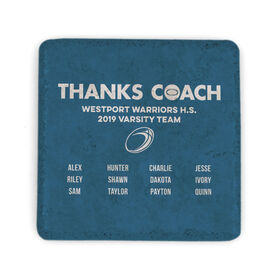 Rugby Stone Coaster - Thanks Coach Roster