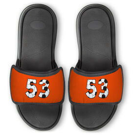 Soccer Repwell® Slide Sandals - Custom Soccer Number