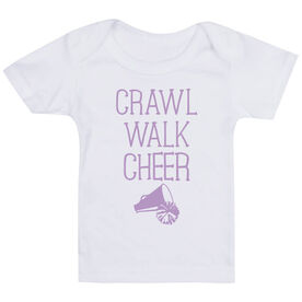 Cheerleading Baby T-Shirt - Crawl Walk Cheer