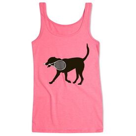 Tennis Women's Athletic Tank Top Tanner The Tennis Dog