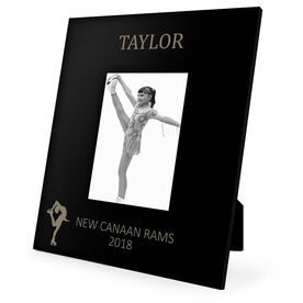 Figure Skating Engraved Picture Frame - Name (Silhouette)