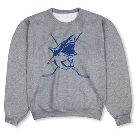 Hockey Crew Neck Sweatshirt - Hockey Shark