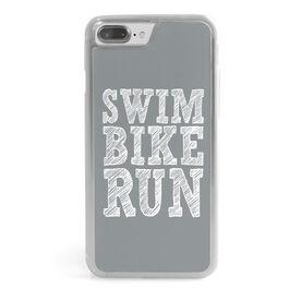 Triathlon iPhone® Case - Swim Bike Run (Stacked)