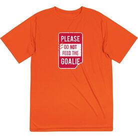 Short Sleeve Performance Tee - Don't Feed The Goalie