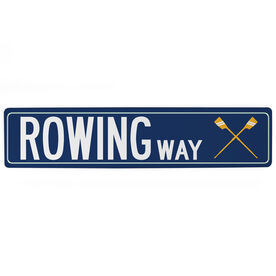 "Crew Aluminum Room Sign - Rowing Way (4""x18"")"