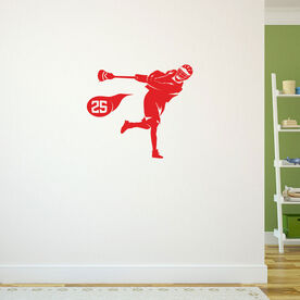 Guys Lacrosse Removable ChalkTalkGraphix Wall Decal - Personalized Shooter