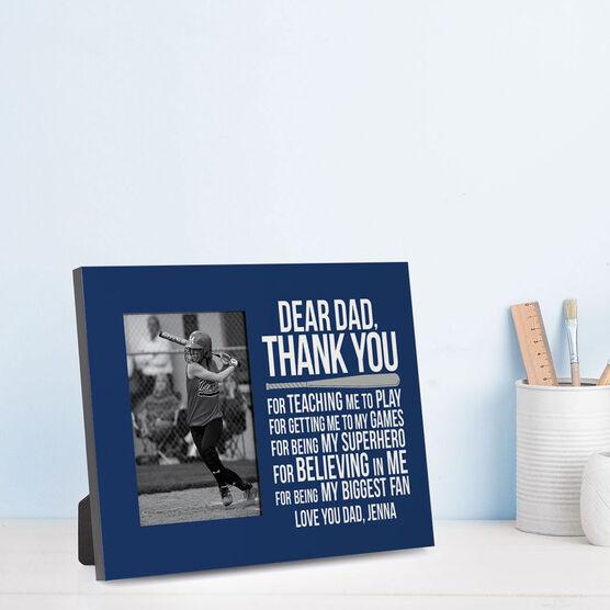 Softball Photo Frame - Dear Dad