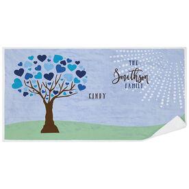 Personalized Premium Beach Towel - Family Tree