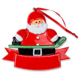 Hockey Ornament - Hockey Player Santa