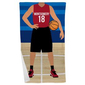 Basketball Beach Towel - Basketball Player