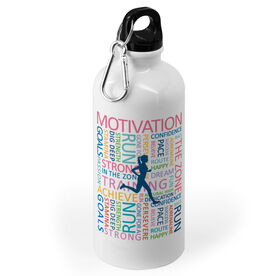 Running 20 oz. Stainless Steel Water Bottle - Inspirational Words Female