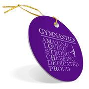 Gymnastics Porcelain Ornament - Mother Words (Girl Gymnast)