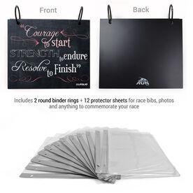 BibFOLIO® Race Bib Album - Chalkboard Courage To Start