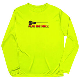 Guys Lacrosse Long Sleeve Performance Tee - Fear The Stick