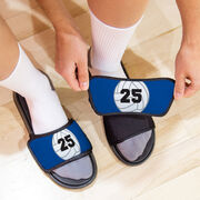 Volleyball Repwell® Sandal Straps - Volleyball with Number