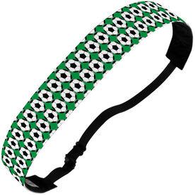 Soccer Julibands No-Slip Headbands - Soccer Ball Pattern
