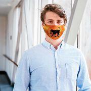 Basketball Face Mask - Baxter the Basketball Dog Tie-Dye
