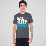 Swimming Short Sleeve Performance Tee - Eat. Sleep. Swim.