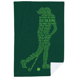 Field Hockey Premium Blanket - Personalized Field Hockey Words