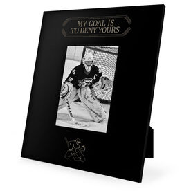 Hockey Engraved Picture Frame My Goal Is To Deny Yours (Goalie)