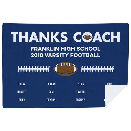 Football Premium Blanket - Thanks Coach (Horizontal)