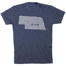 Running Short Sleeve T-Shirt - Nebraska State Runner