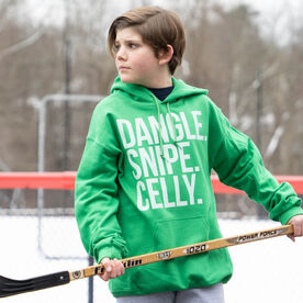 Hockey Hooded Sweatshirt - Dangle Snipe Celly Words