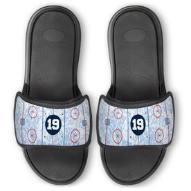 Hockey Repwell™ Slide Sandals - Personalized Ice Rink