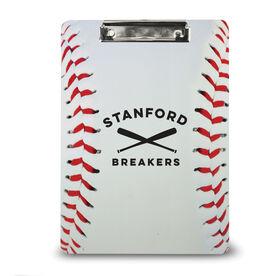 Baseball Custom Clipboard Baseball Team Name With Stitches