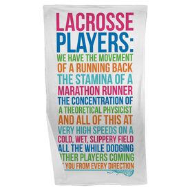 Girls Lacrosse Beach Towel - Lacrosse Players