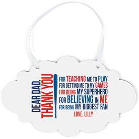 Softball Cloud Sign - Dear Dad