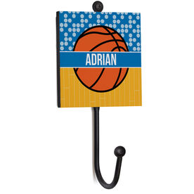 Basketball Medal Hook - Personalized 2 Tier Patterns with Basketball